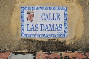 Placa Calle Las Damas